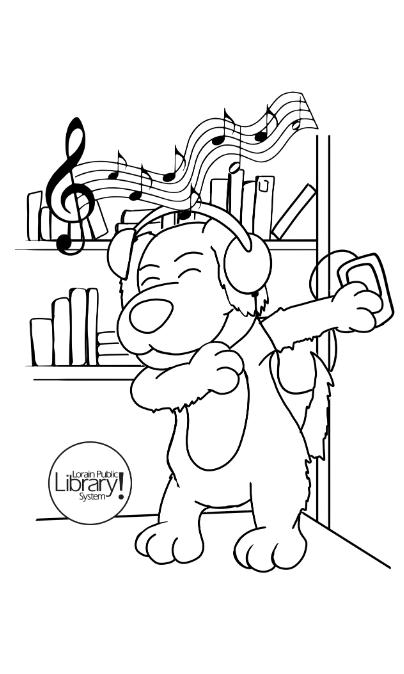 Browser dancing wearing headphones