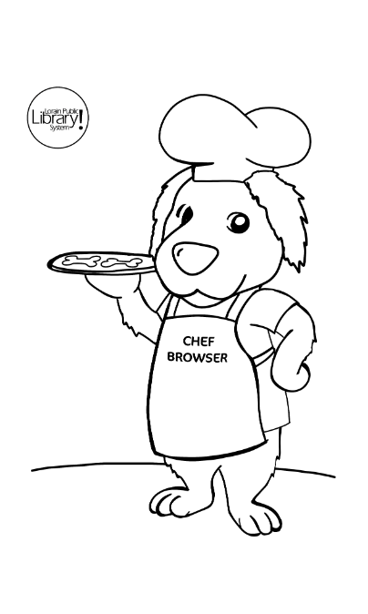 Browser holding a pizza