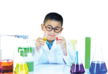 Child in a Science Lab