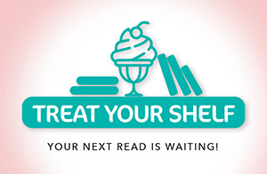 Treat Your Shelf Logo - Shelf with books and ice cream sundae