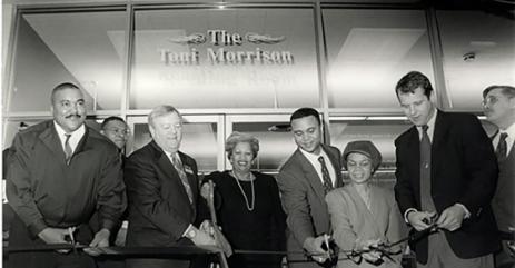 Photo of the Dedication of the Toni Morrison Room